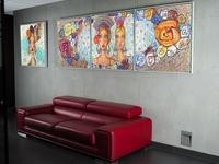 Obrazy jako dekoracje salonu malarstwo wspolczesne do firmy Dagma Art 4