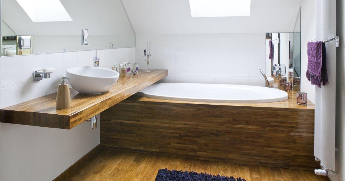 Drewno W łazience Meble łazienkowe I Podłoga Mogą Być Z