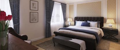 Sypialnia w domu jednorodzinnym w Strzegomiu