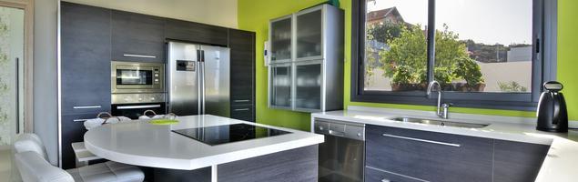 Szara kuchnia - nowoczesny wystrój wnętrz